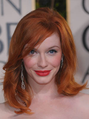Christina Hendricks at the 2010 Golden Globes 2010-01-17 17:23:02