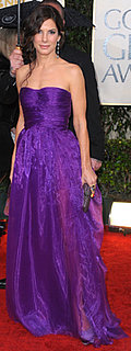 Sandra Bullock Wears Purple at Golden Globe Awards
