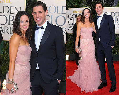 Emily Blunt And John Krasinski at The 2010 Golden Globes