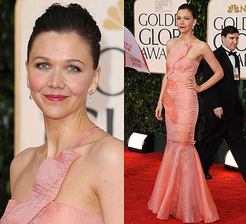 Maggie Gyllenhaal in Roland Mouret at 2010 Golden Globes Awards