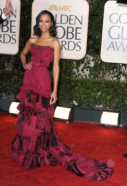 Zoe Saldana in Louis Vuitton