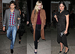 Photos of Ashton Kutcher, Demi Moore, Kristen Dunst, Selma Blair at Art Gallery in LA
