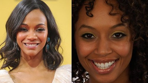 Zoe Saldana Gold Glimmer Eyeshadow Celebrity Makeup Look Critics Choice Awards 2010 2010-01-16 22:17:36