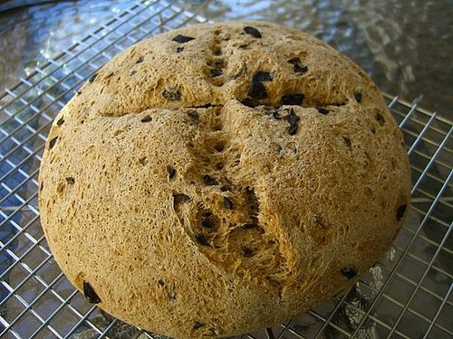 Your First Challenge: Rustic Loaf with Cured Black Olives and Rosemary