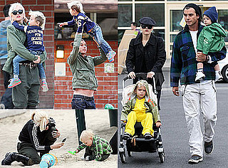 Gwen Stefani With Gavin, Zuma, Kingston Rossdale in LA
