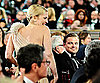 Slide Photo of Leonardo DiCaprio and Drew Barrymore at 2010 Golden Globe Awards
