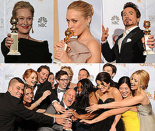 Photos from the Press Room Plus Full List of Winners from the Golden Globes 2010