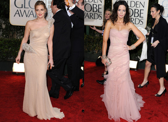 Golden Globes Red Carpet Photos of Nude and Flesh Coloured Dresses