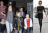 Photos of David Beckham in Europe and Victoria, Romeo, Brooklyn, and Cruz in LA