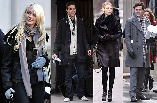Photos of Blake Lively, Chace Crawford and Penn Badgley on The NYC Set of Gossip Girl