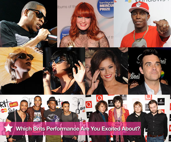 Brit Awards Performers Slideshow Pictures Featuring Cheryl Cole, Jay-Z, Lily Allen, Robbie Williams, JLS, Lady GaGa