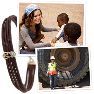 Rachel Bilson Designs Charity Bracelet for Diamond Empowerment Fund in Africa
