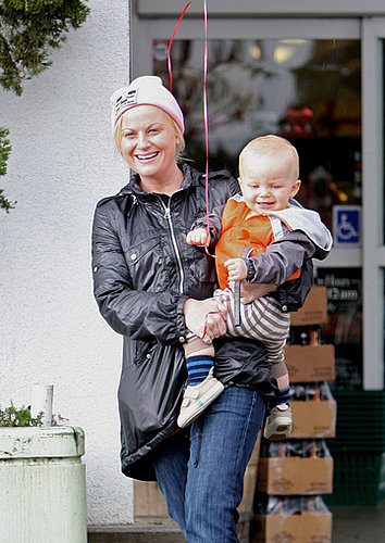 Amy Poehler and Archie Aren't Afraid of a Rainy Day
