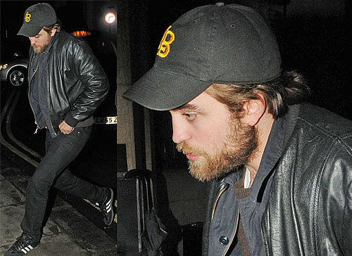 Photos of Robert Pattinson and His Overgrown Beard Out in London Where He's Filming a Segment for the Hope for Haiti Telethon