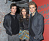 Slide Photo of Nina Dobrev, Paul Wesley and Ian Somerhalder in NJ