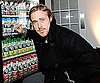 Slide Photo of Ryan Gosling Autographing a Muscle Milk Vending Machine at Sundance