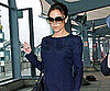 Slide Photo of Victoria Beckham Arriving at Heathrow in London