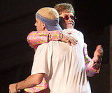 Elton John and Eminem performed together in 2001.
