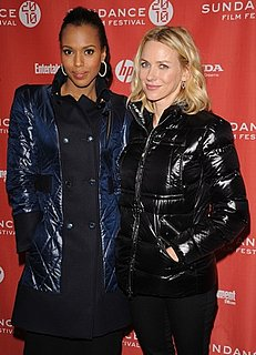 Kerry Washington and Naomi Watts in Puffer Coats at the 2010 Sundance Film Festival