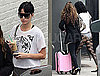 Photos of Katy Perry Arriving to a Studio Wearing a Leotard and Tiger Shirt in LA