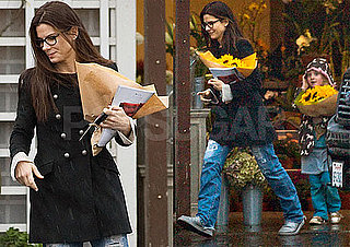 Photos of Sandra Bullock Buying Flowers in LA With Sunny James