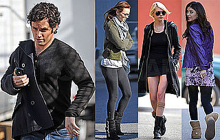 Photos of Leighton Meester, Taylor Momsen, Jessica Szohr and Penn Badgley On Gossip Girl Set