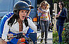 Photos of Courteney Cox And Busy Philipps Filming Cougar Town in LA
