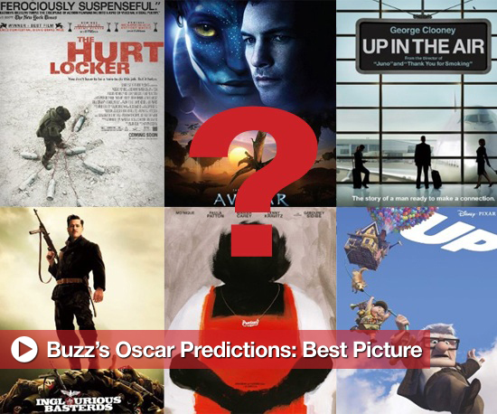 Nominee Predictions for the 2010 Academy Award for Best Picture