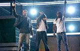 Eminem, Lil Wayne, and Drake With Travis Barker