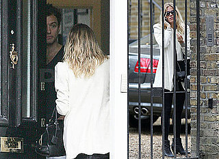 Photos of Sienna Miller Trying to Sneak Discretely Out of Jude Law's London Home Amid Engagement Rumors