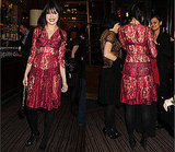 Photos of Daisy Lowe in Red Lace Dress