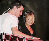 Nicole Richie joined DJ AM on stage at a Super Bowl party in 2005.
