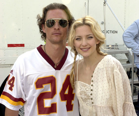 Matthew McConaughey and Kate Hudson were together in 2003 for MTV's First Annual Super Bowl Tailgate Spectacular.