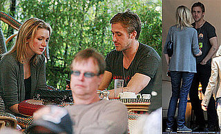 Photos of Ryan Gosling Eating Lunch With a Girl Friend at The Chateau Marmont in LA