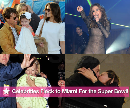 Celebrities Flock to Miami For the Super Bowl!