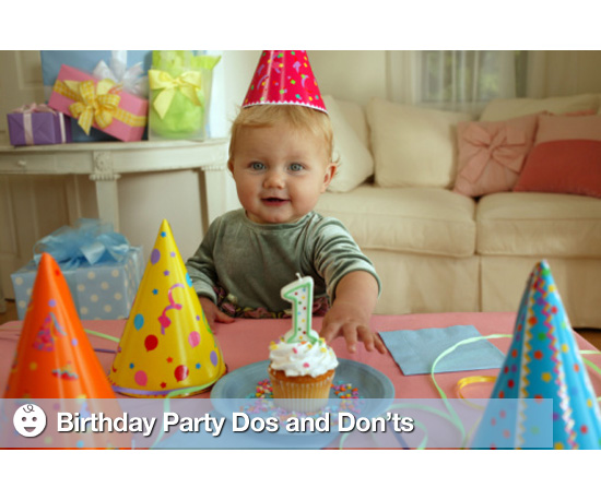 Birthday Party Dos and Don&#039;ts