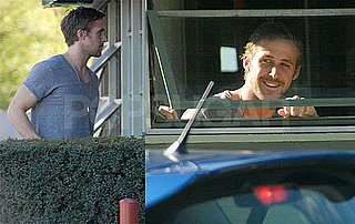 Photos of Hot Ryan Gosling Waving From Lunch at Hugo's