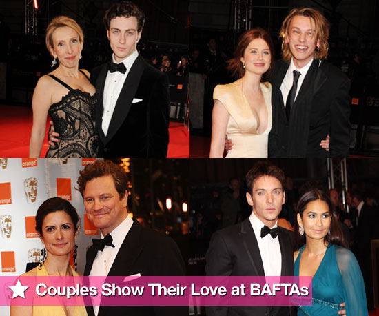 Photos of All the Couples on the BAFTAs 2010 Red Carpet Sam Taylor-Wood, Aaron Johnson, Bonnie Wright, Jamie Campbell Bower 2010-02-21 14:59:26