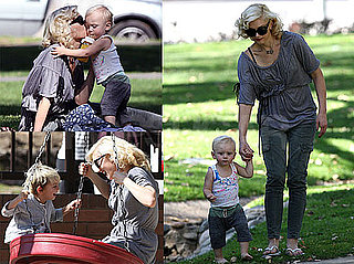 Photos of Gwen Stefani Playing with Kingston and Zuma at the Park in LA