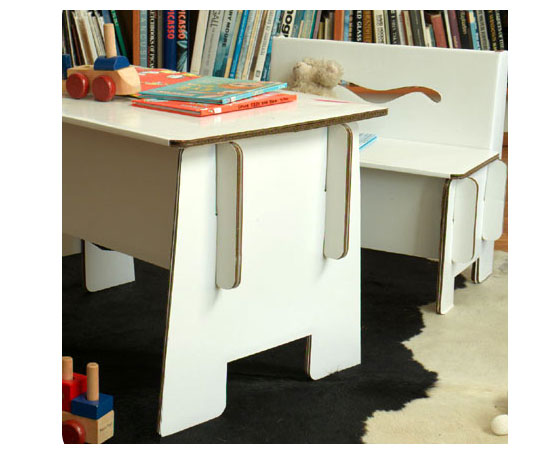 Cardboard Bench and Storage