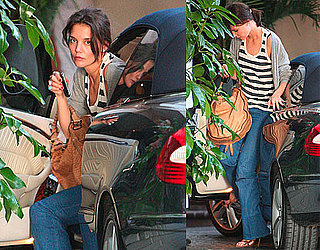 Photos of Katie Holmes Arriving at a Hotel in LA