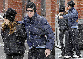 Photos of Justin Timberlake and Jessica Biel Cuddling up in the Snow in NYC Wearing Hats