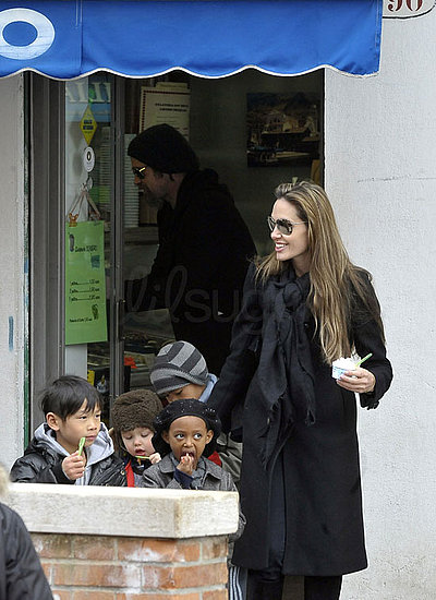 The Jolie-Pitts Go Out For Gelato