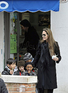 Photos of Brad Pitt, Angelina Jolie and their kids in Venice