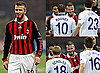 Photos of David Beckham Playing For AC Milan Versus Manchester United and Paul Scholes, Wayne Rooney, Rio Ferdinand 2010-02-17 02:55:00
