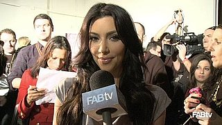 Kim Kardashian on Bebe Collaboration with Khloe and Kourtney at New York Fashion Week Fall 2010 2010-02-16 12:06:32