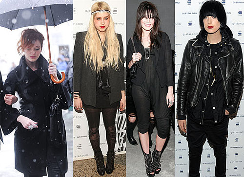 Photos of Celebs in the Snow and Front Row at New York Fashion Week