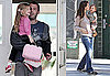 Photos of Jennifer Garner Kissing Seraphina Affleck As They Left a Craft Store in LA; Ben Affleck Picking up Violet Affleck