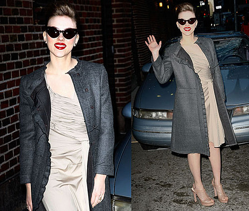 Photos of Scarlett Johansson Leaving The Late Show in NYC