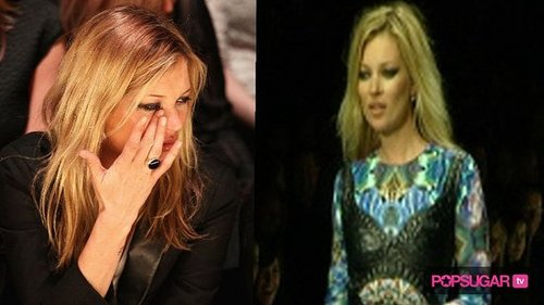 Kate Moss at London Fashion Week 2010